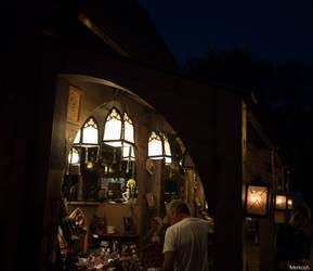 Hayner Burgfest at night by Merkosh