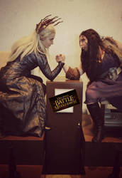 Thranduil and Lady Thorin Cosplay - Middle Earth