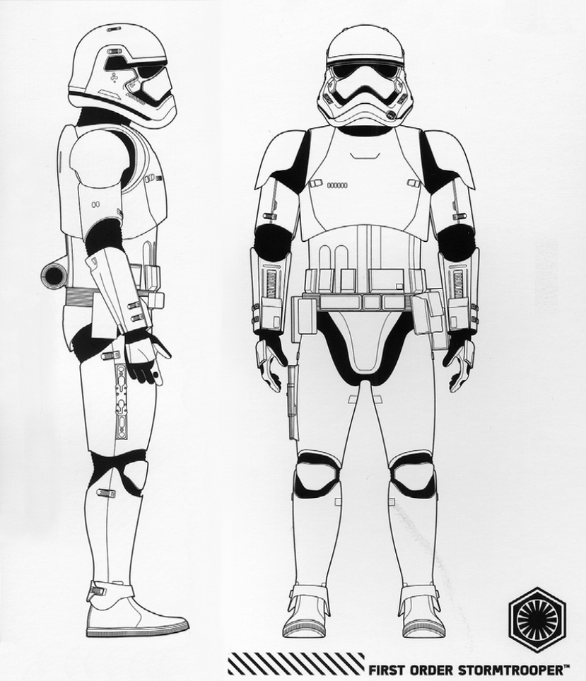First Order Stormtrooper Front Profile Views By Artifician