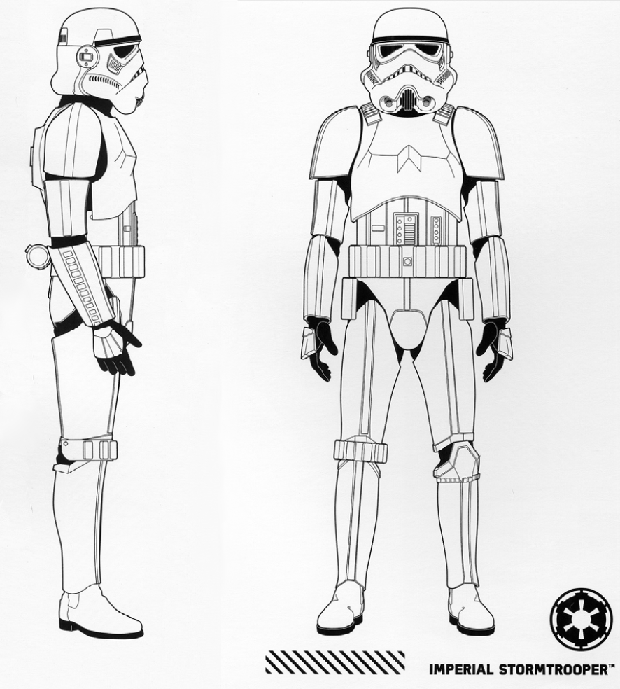how to draw a first order stormtrooper helmet