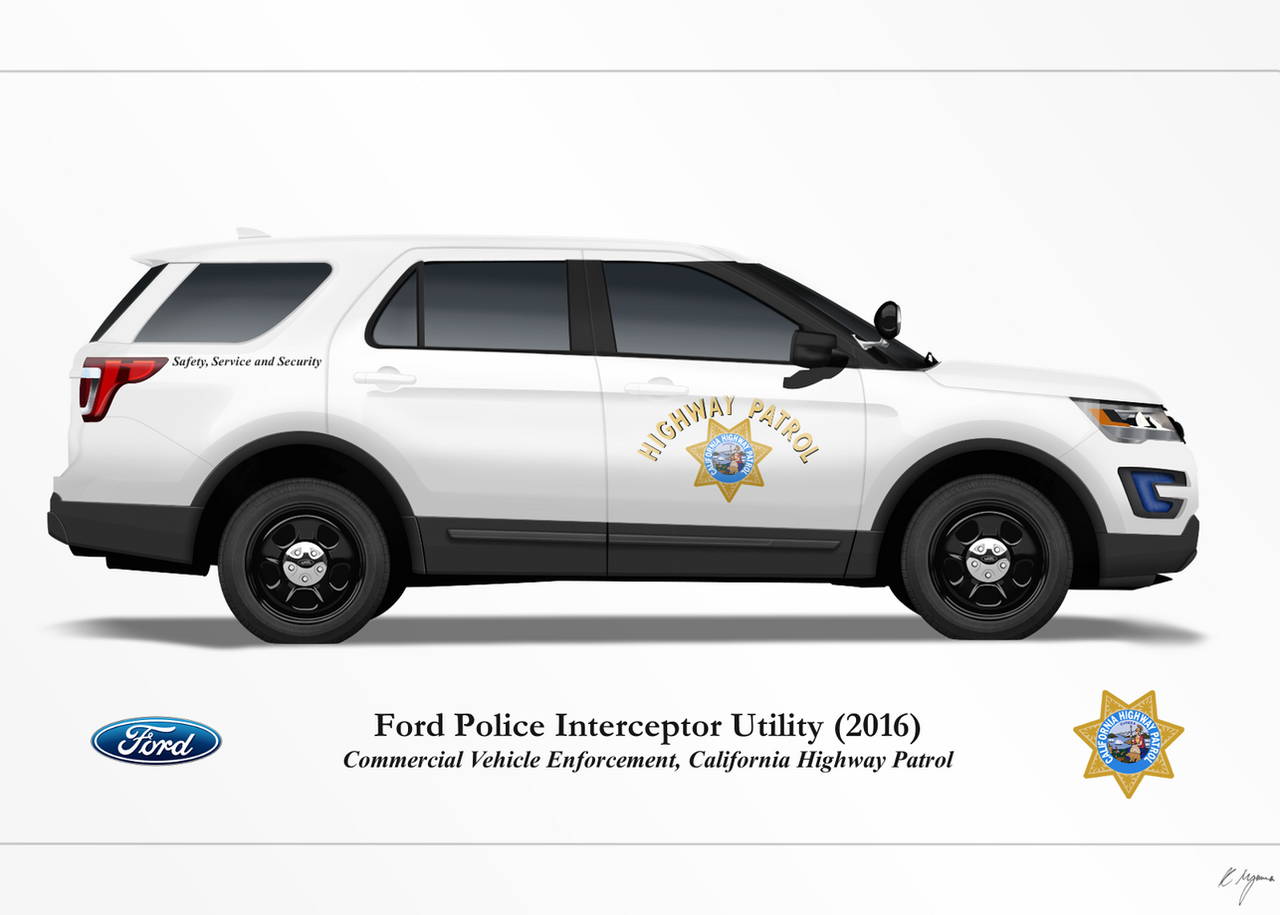 California Highway Patrol 2016 Ford PIU (White) by ...