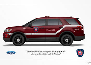 Montreal Fire Department 2016 Ford PIU by matsudesign