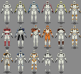 Old Clone Trooper Collection
