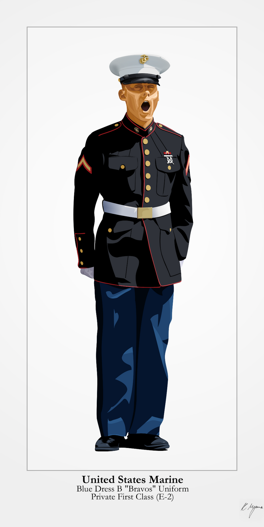 Dress Blue Bravos - US Marine Corps by graphicamilitare on ...