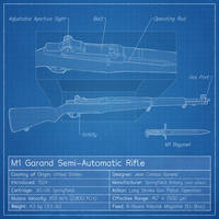 M1 Garand Blueprint by graphicamechanica