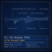 DC-15A Blaster Rifle Blueprint