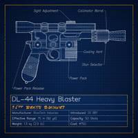 Han Solo's Pistol Blueprint (DL-44)
