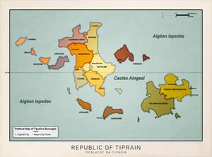 Tiprain Political Map (Anterra)