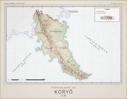Koryeo Topography - Atlas of Anterra by graphicamechanica