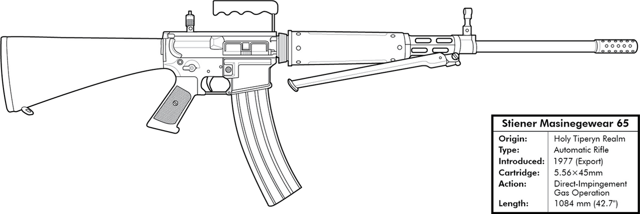 Stiener Masinegewear 65 Light Machine Gun by graphicamilitare