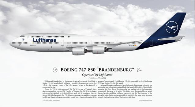Boeing 747-830 'Brandenburg' - Lufthansa by graphicamechanica