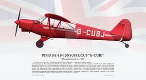 Piper PA-18-150 Super Cub 'G-CUBJ' Print