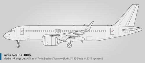 Ares Gesina 300X (Medium-Range Airliner)
