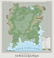 SiWallqanqa Topography - Atlas of Anterra by graphicamechanica