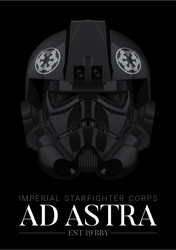 Imperial TIE Fighter Pilot - 'Ad Astra' Poster by graphicamechanica