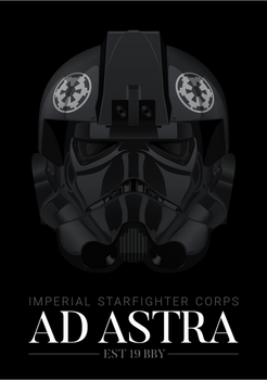 Imperial TIE Fighter Pilot - 'Ad Astra' Poster