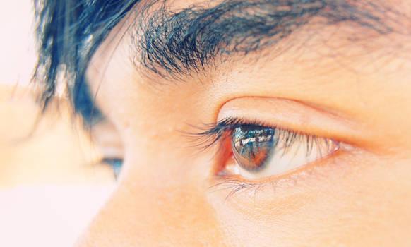 ..empty stare..