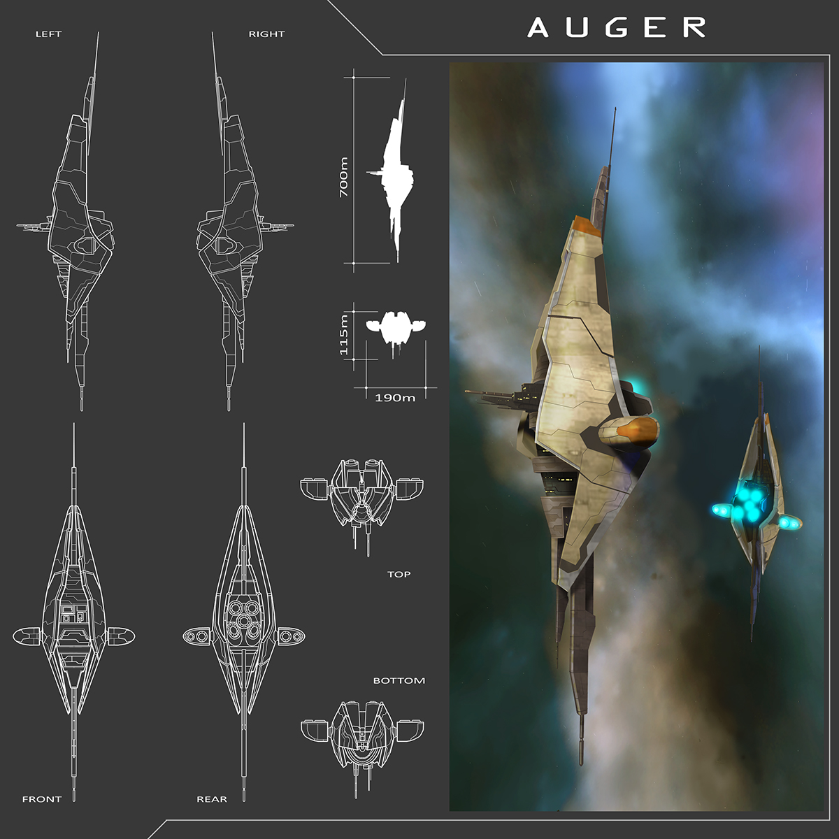 Auger by machinefire
