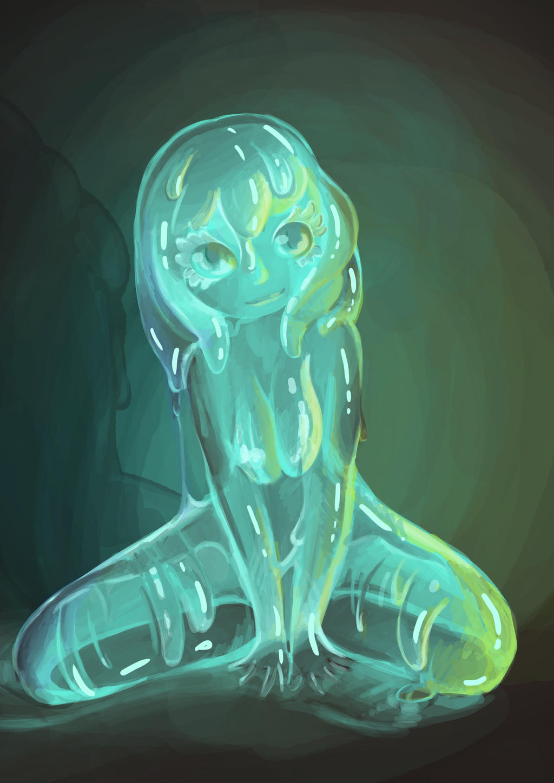 3d slime girl erotic beauty pornstar