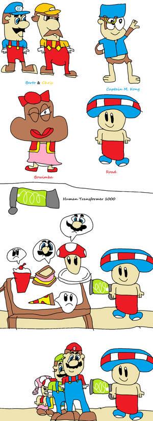 Super Mario Human Tramsfromer