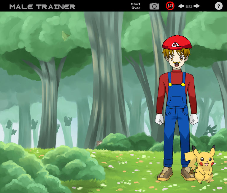 Mario in Pokemon Style