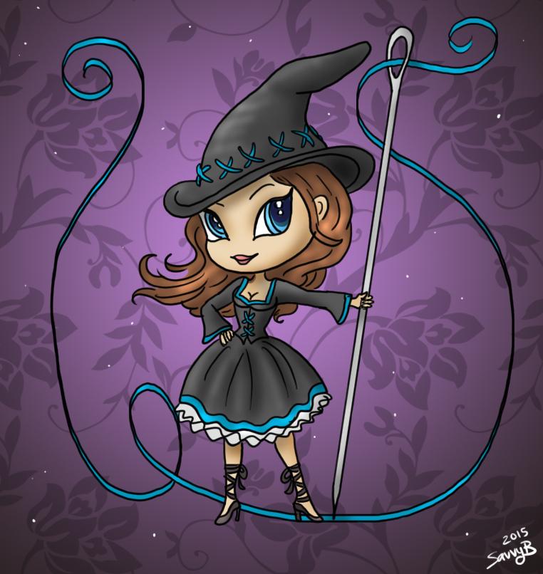 Stitch Witch Chibi by Captain-Savvy