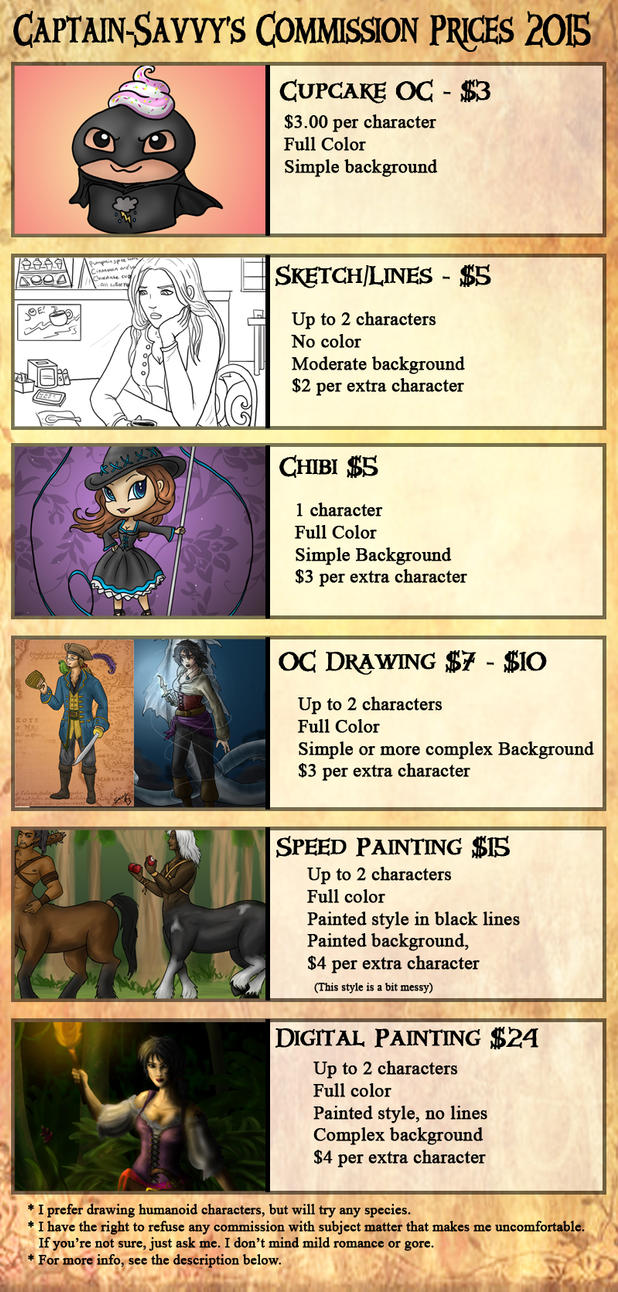 Commission Price Sheet by Captain-Savvy