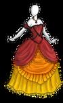Flames n Ruffles Dress Adoptable SOLD