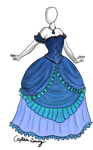 Water n Ruffles dress Adoptable SOLD