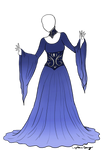 Blue Lady Dress Adoptable SOLD