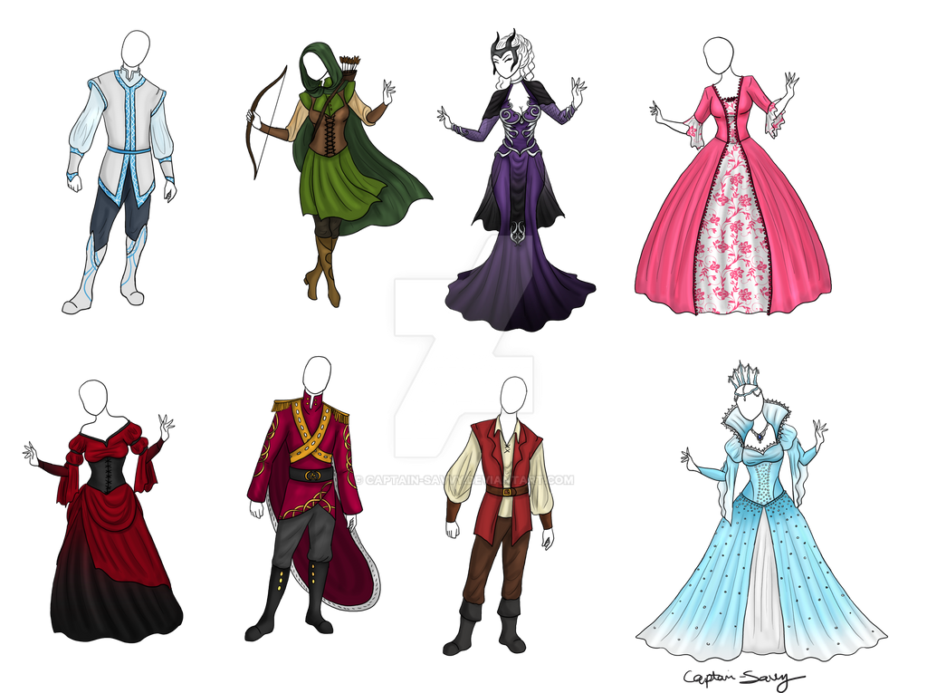 clothing design set jessybdesign by captainsavvy on