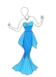 Lady of the Sea Dress Adoptable [sold]