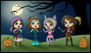 Spooky Gale Girls Commission by Captain-Savvy
