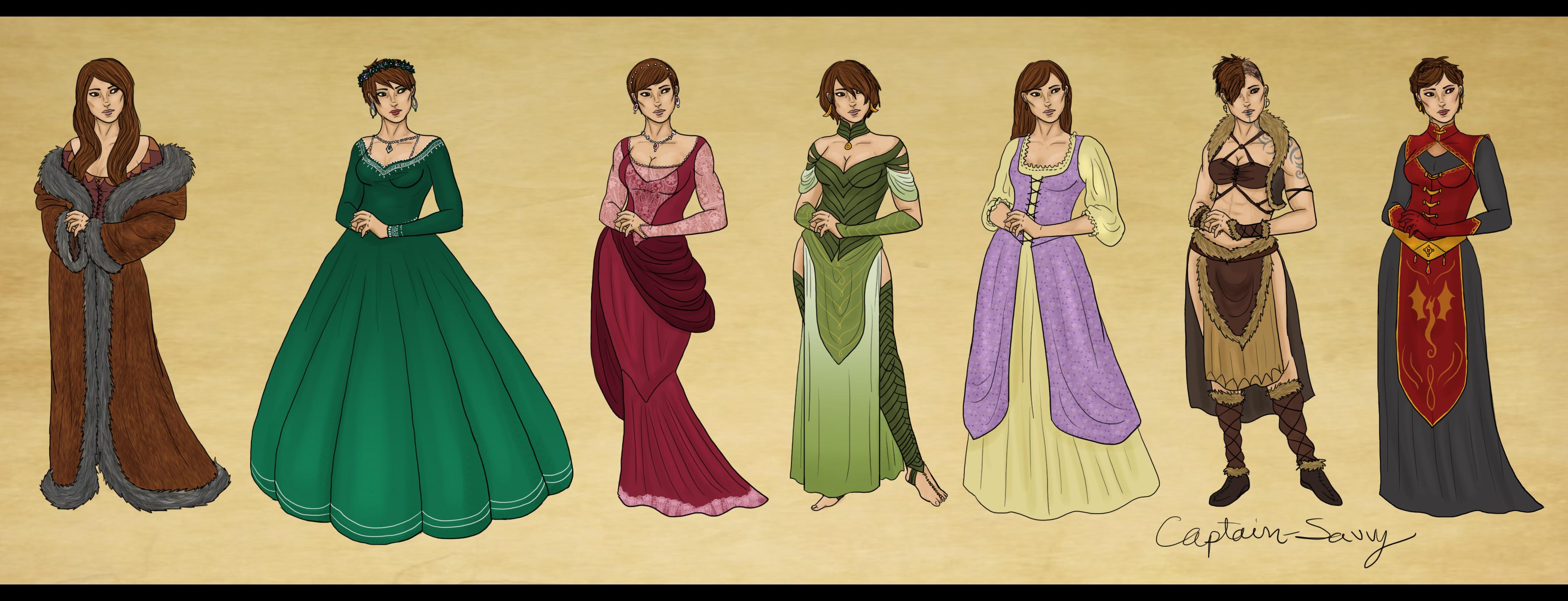 Alora Trevelyan Outfits