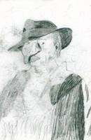 Drawing of Michael Crawford by phantom245w44st