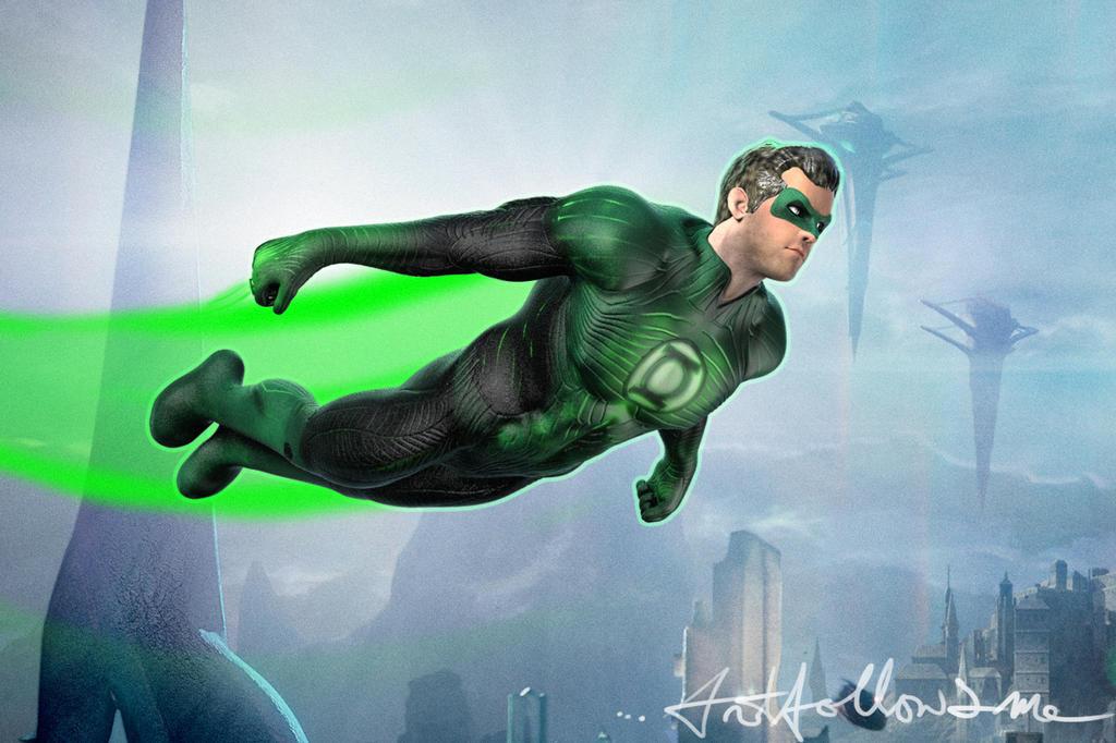 green lantern in flight by artisi