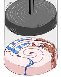 Rotation compression girl