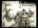 Battle armored Batman