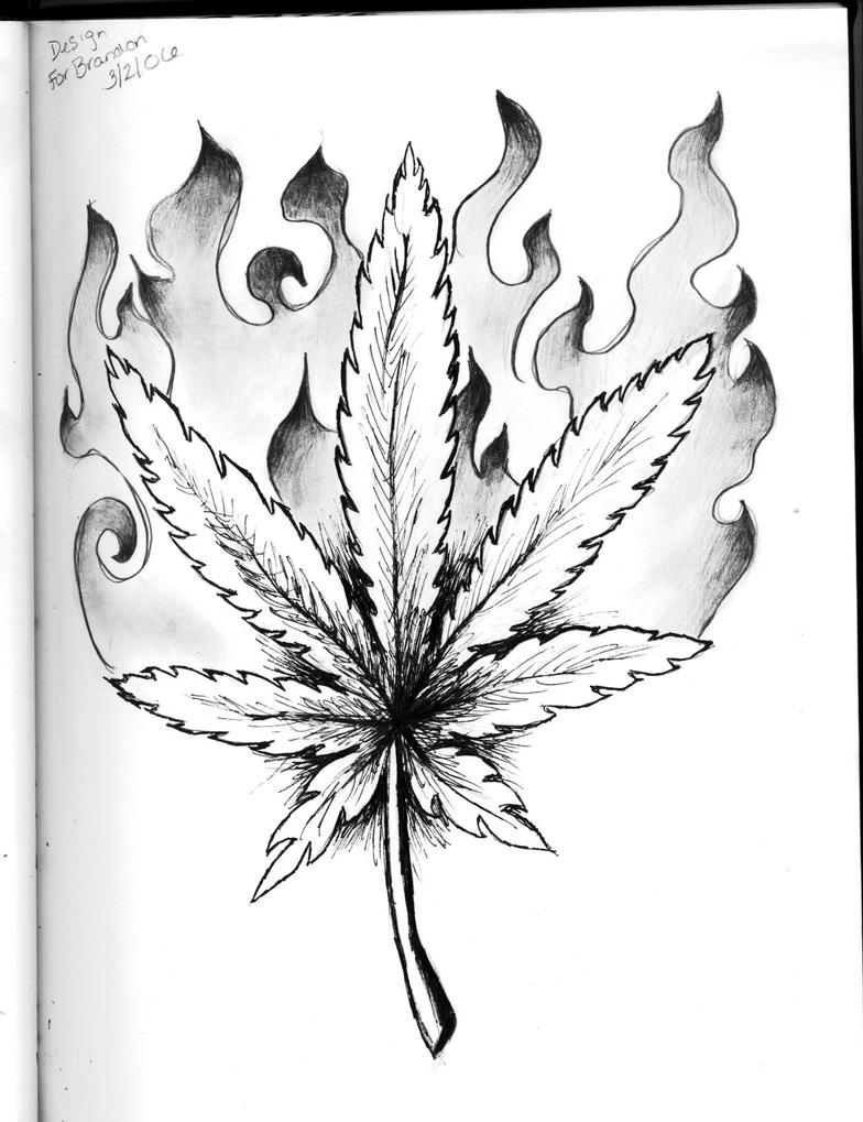 Weed Leaf Drawing Tattoo Viewing Gallery