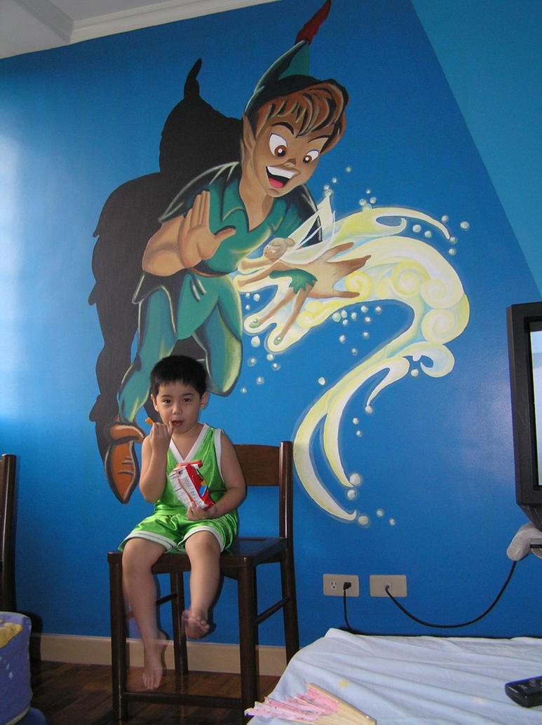 mural peter pan by allenation on deviantart