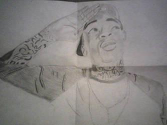 Wiz Khalifa drawing by HighNoonAce