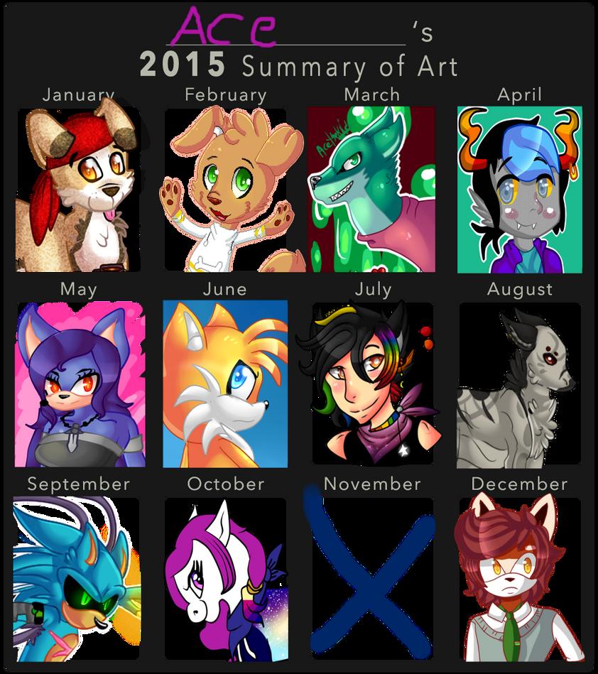 2015 Art Summary by HighNoonAce