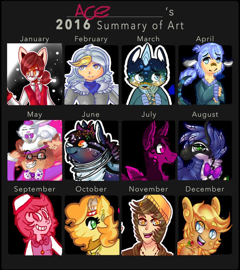2016 Art Summary by HighNoonAce