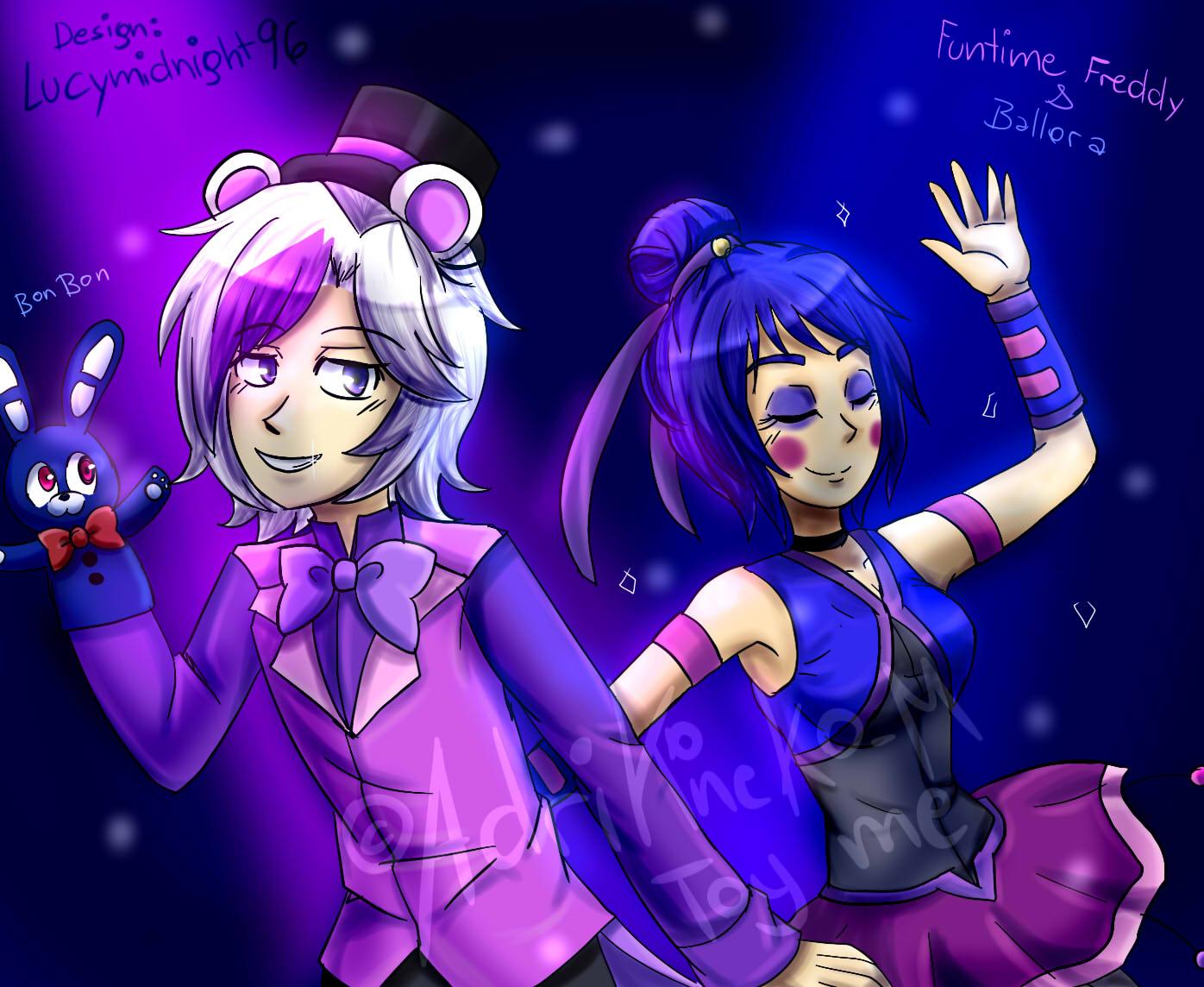 FunTime Freddy And Ballora Art Trade By AdriKoneko Mizuiro