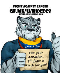 Get sketch for your donation! Fight against Cancer