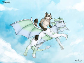 Flying - Commission for ItsNathan