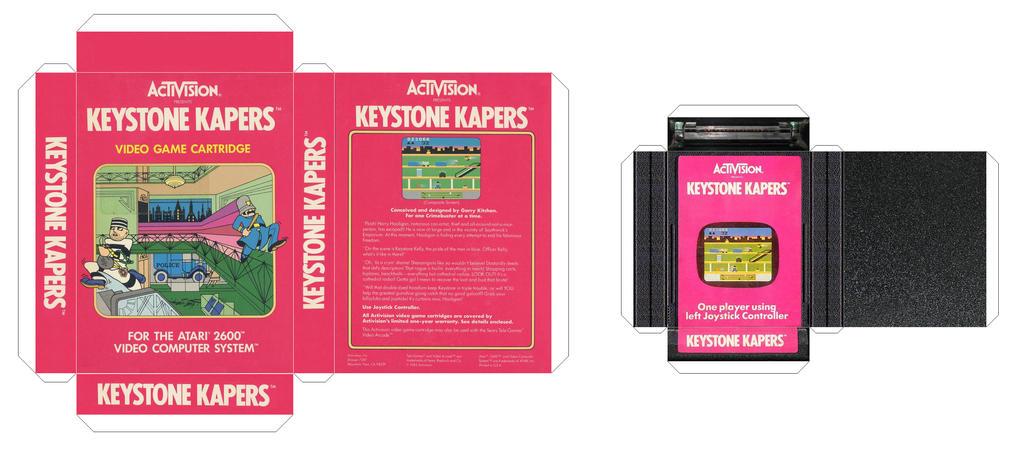 Keystone Kapers Box and Cartridge by retro-papercraft on DeviantArt