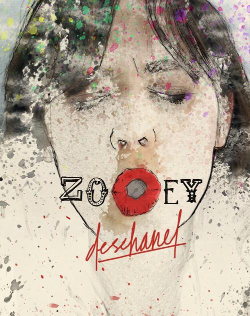 zooey deschanel by beauhaus