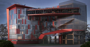 office building render