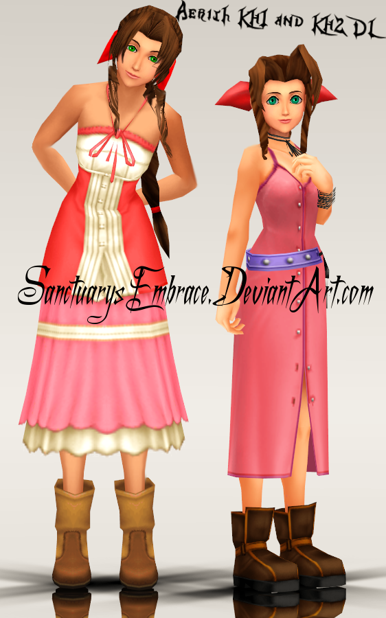 KH Time! - Aerith (KH2) by infinitehearts on DeviantArt